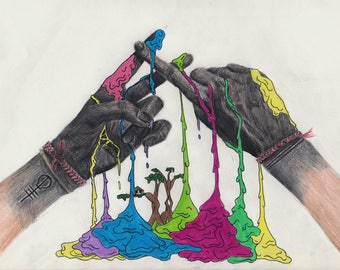Clique Hands (Print)