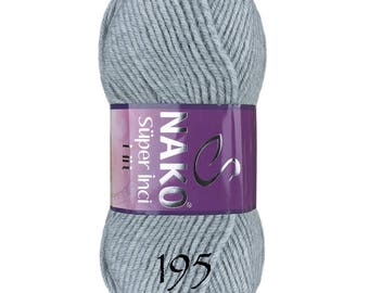 Nako SUPER INCI HIT Blend acrylic wool color choice hand knit yarn Premium acrylic wool nako yarn winter yarn spring yarn soft wool yarn