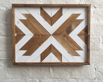 Wood geometric wall art - Modern, rustic