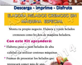 Kit Recetas Helados Chupis Cremosos Negocio Rentable