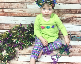 Mardi Gras Headwrap- Headwrap; Mardi Gras Headband; Big Bow Headwrap; Mommy and Me Headband; Mardi Gras Accessories; Mardi Gras Favors