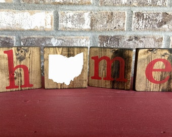 Ohio Home Sign, Ohio State Sign, Ohio Sign, Ohio Wood Sign, Home Sign, State Sign, State Home Sign, Customizable State Sign