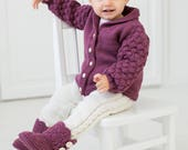 Knitted Baby Girl Wool Ca...