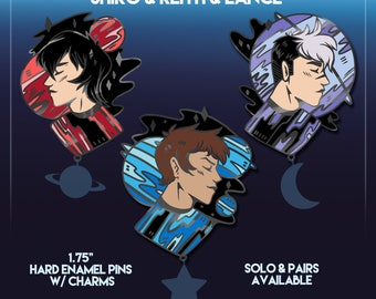 PRE ORDER | Voltron Cosmic Lance, Keith, & Shiro Enamel Pin