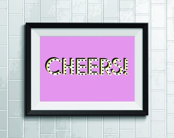 Pink Cheers Wall Poster