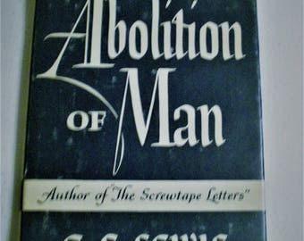 Abolition of Man C.S. Lewis Book