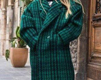 Vintage wool coat oversize deadstock '80 cod. 9-05