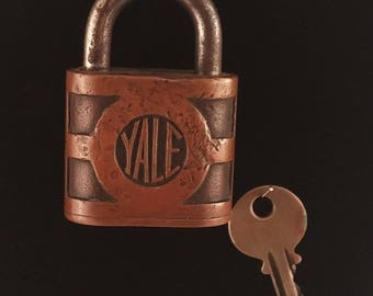 Vintage Brass Yale and Towne Padlock