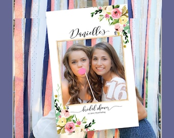 Wedding photo props, Bridal Shower Photo Prop, bridal shower photo booth frame, Bridal Shower sign, Bridal Shower decoration, photo props
