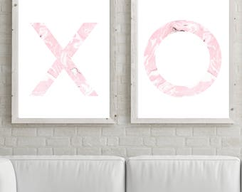 X O Girls Prints, Nursery, Nursery Decor, Nursery Print, Nursery Wall Art, Pink, Girl Nursery, Girls Room Decor, Bedroom Decor, Love, XO