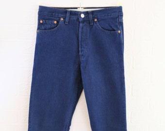 Levi 501 Straight Leg Denim Jeans/Waist 28 inch/Length 29 inch/Retro Jeans/Vintage Jeans/1990s