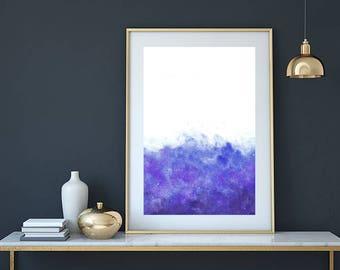 Abstract painting, acrylic painting, watercolor painting, abstract art, modern painting, abstract wall art, abstract print, blue wall art,