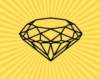 Diamond Outline Etsy