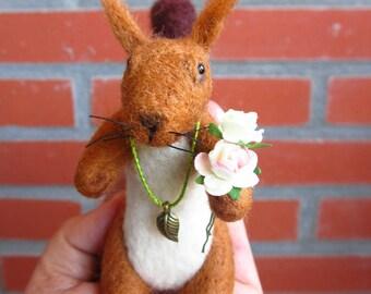 Romantic  squirrel- OOAK, artist squirrel, miniature squirrel, small squirrel , artist squirrel, tiny squirrel, art squirrel , Blythe