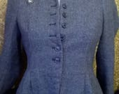 Stunning Zara Vintage Medium Size 12 Riding Steampunk Explorer adventurer Jacket peplum edged herringbone Gothic Cosplay