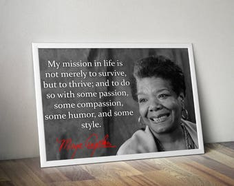 Maya Angelou Inspirational Quote Poster