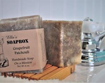 Natural Grapefruit Patchouli 6oz Soap Block