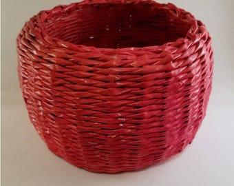 Red Bowl Basket