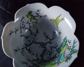 """A.C.F. Japanese Porcelain Ware Decorated in Hong Kong 6"""" Bowl"""