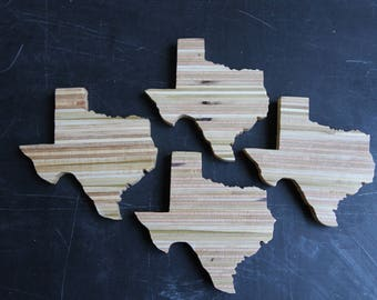 """Wooden Texas, Recycled Texas Sign, Plywood Texas 5"""""""