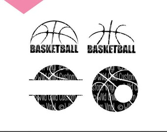 Basketball SVGs, Basketball Monogram, Basketball Silhouette, Basketball Monogram SVG, Basketball Silhouette SVG, Basketball, Basketball SVG