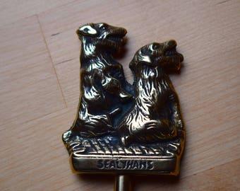 Antique Brass,Toasting Fork,Sealyham,Brass Toasting Fork,Roasting fork,Sealyham Terrier,Brass Dogs,Sealyham Dog,Marshmallow Fork,Novelty Dog