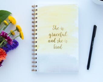 She Is Graceful Notebook