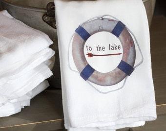 Nautical Life Ring Kitchen Towel, Nautical Lifesaver Decor, Nautical Kitchen  Decor, Nautical Life