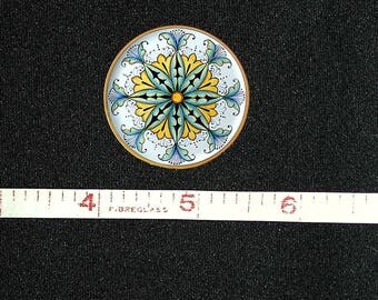 Artisan Made Dollhouse Miniature Majolica Plate Handpainted, 1:12 Scale   FREE US SHIPPING!!