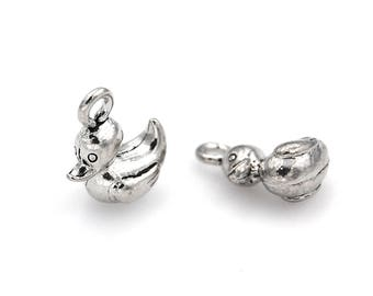 2pc, Duck Charm, Pewter