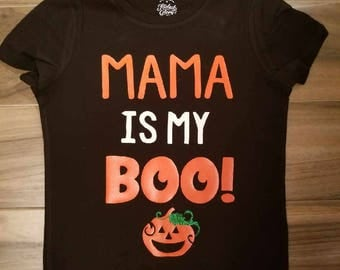 Mama is My Boo Shirt // Halloween Shirt // Kids Halloween Shirt // Halloween Shirt // Pumpkin Shirt