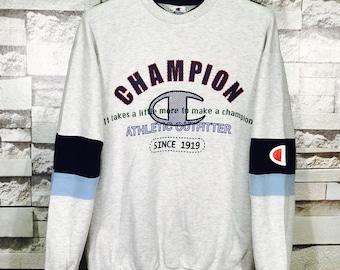 Rare Vintage Champion Usa Big Logo Sweatshirts Size Small S  / Champion Hoodie / Champion Sweater / Big Logo sweatshirt