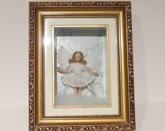 Porcelain Angel Doll Shadow Box 8' x 10'