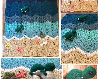 Turtles blanket  select a size