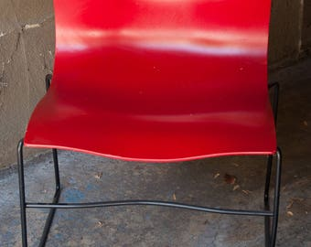 Vignelli Designed For Knoll Red Handkerchief Chairs