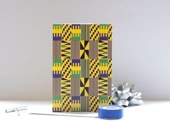 African Print Blank Card - Yaw