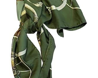 HERMES Vintage Springs Silk Scarf 90cm