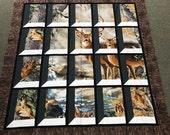 Deer in Attic Window Quilt Kit Buck and Doe Realtree Outdoors Wildlife Hunting Hunters Trees Leaves Fall Autumn  Quilt Kit Pattern