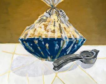 "Art Print of ""Lemon Basket"" 5x5 in."