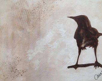 Acrylic on canvas - bird