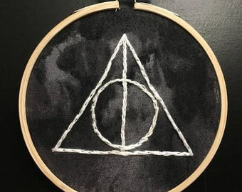 Deathly Hallows Embroidery Hoop | Harry Potter
