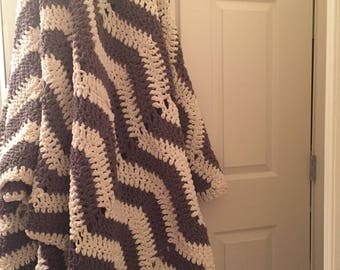 Chevron Crochet Blanket // Custom Colors, Sizes, and Designs Available