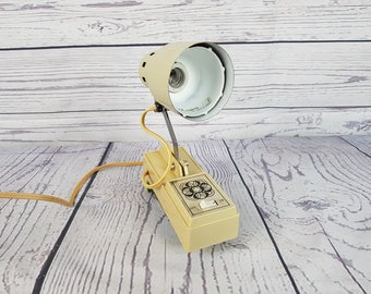 Vintage 70s Reading Lamp Works! with Adjustable Arm Bed or Desk Light Retro Office Decor Modern Mid Century Home Rustic Farmhouse
