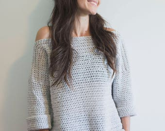PDF Crochet Pattern for the Homebody Sweater - Pullover