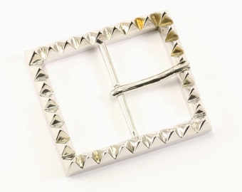 Eddie Borgo Man Pyramid Design Belt Buckle  925 Sterling OT 84-E