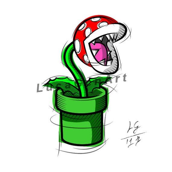 T l charger plante carnivore de super mario design num rique for Plante mario