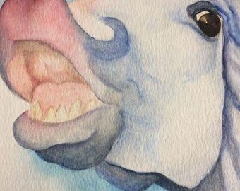 ORIGINAL horse pony watercolour painting