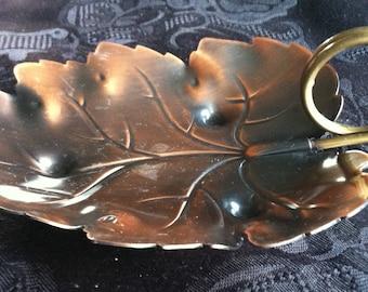 Copper Leaf Tray