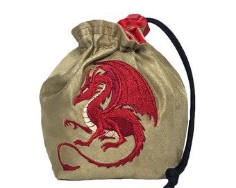 Dice Bag - Fantasy Red Dragon