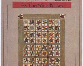 "Timeless Traditions Quilt Pattern - ""As The Wind Blows"" 73 x 91"" by Norma Whaley"